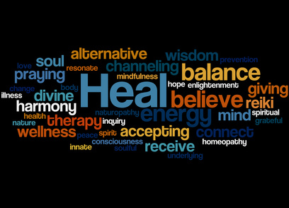 Heal, word cloud concept